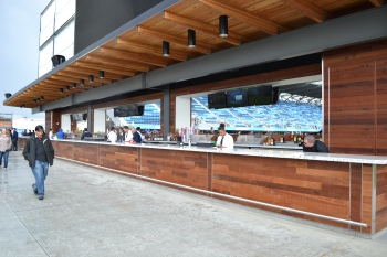 The largest outdoor bar in North America at Avaya Stadium.